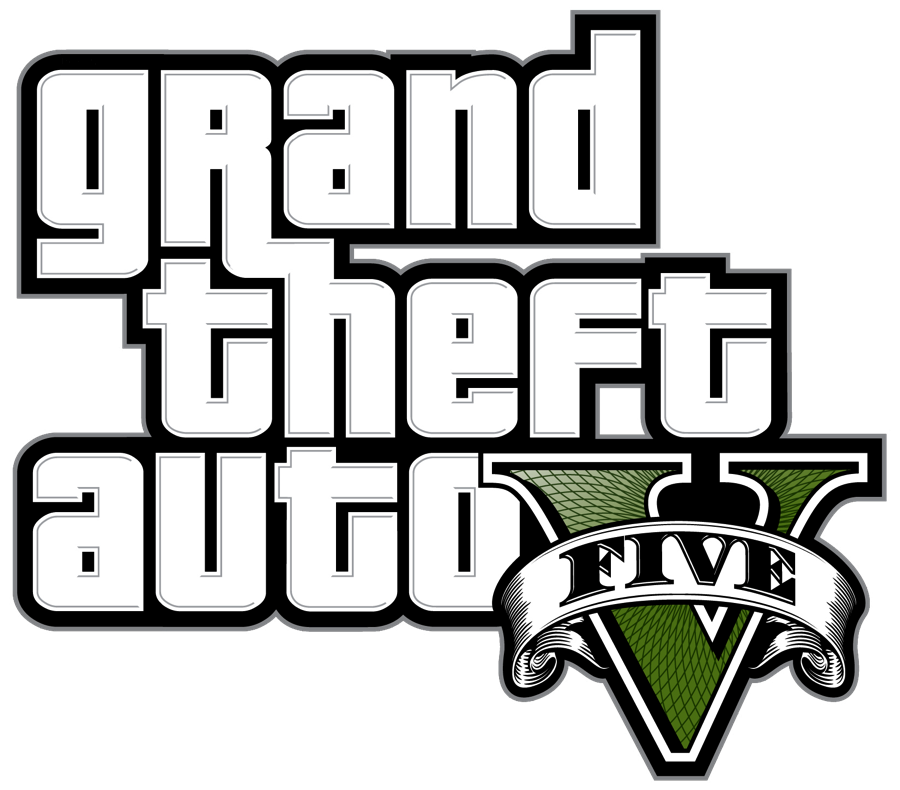 Gta v logo blanc HD